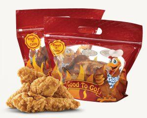 Bolsas de frango