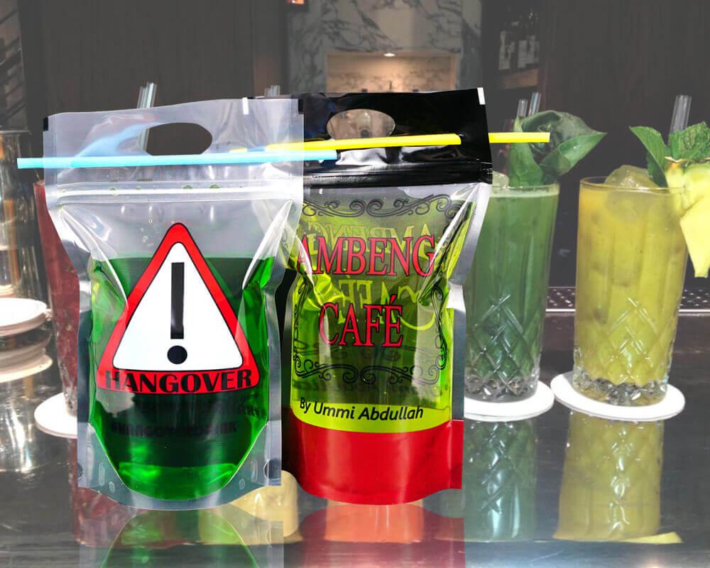 Embalagem de coquetel personalizada