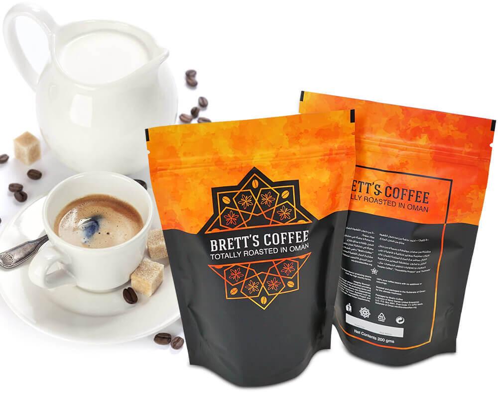 Embalagem de café Bretts