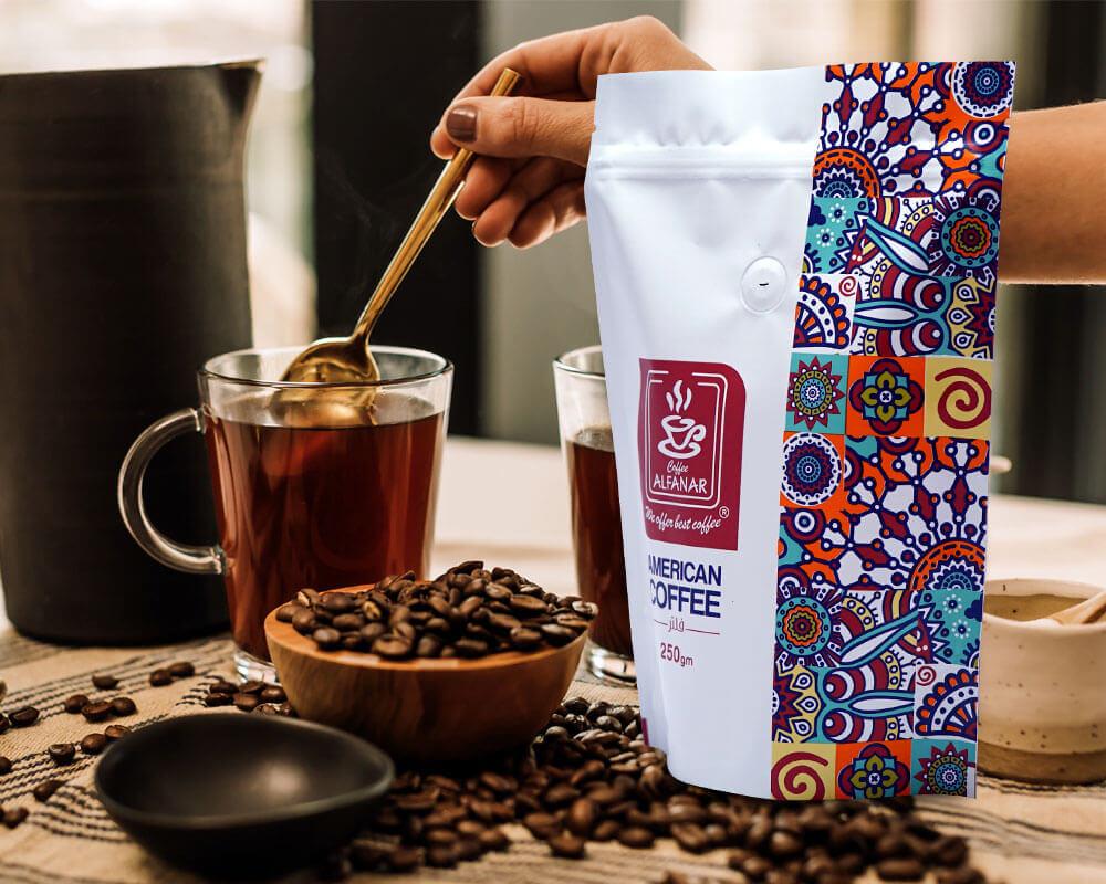 Embalagem de café Alefanar