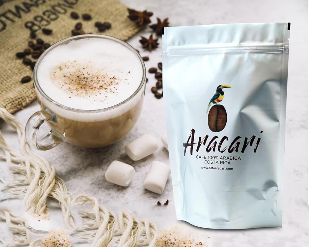 Embalagem de café Aracari
